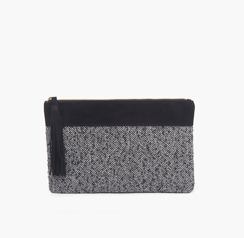 bjoy - Isabel clutch fabric and black suede