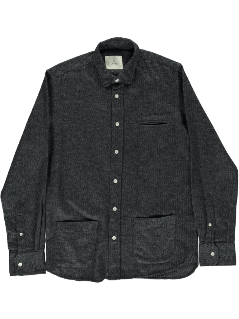 LA PAZ - CASTRO TEXTURED GREY SHIRT