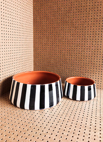 Casa Cubista - Bold Stripe Salad Bowl - Various Colours/Sizes