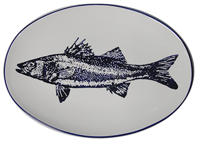 Portugal Gifts - Oval Cobalt Fish Platter