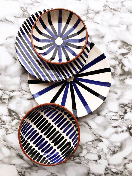 Casa Cubista - Two-Toned Dessert Plate - Black/Blue