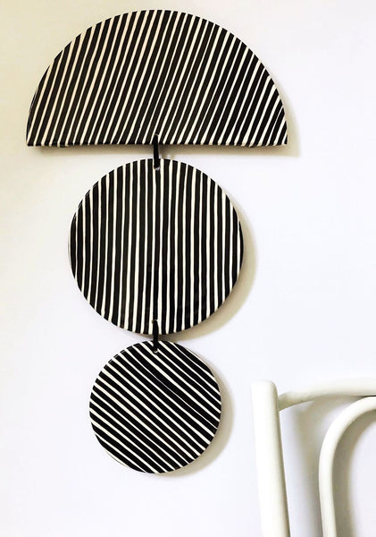 Casa Cubista - Ceramic Trio Wall Art