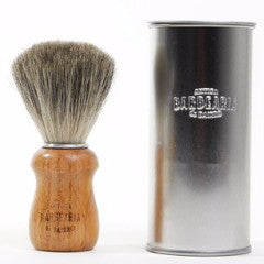 antiga barbearia - oak handle badger hair, shaving brush