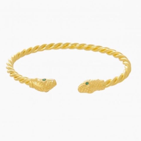 Bracelet Snake Emerald Gemstone - Ana Moura Collections
