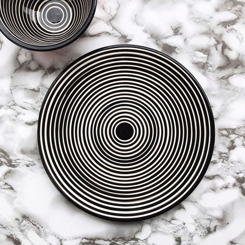 Casa Cubista - Classic Striped Dessert Plate - 2 Colours Available