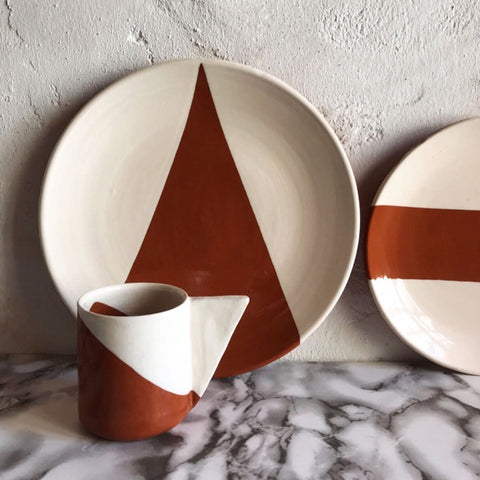 Casa Cubista - Dipped Mug - Triangle Handle