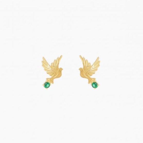 Earrings Dove in Emerald Gemstone - Ana Moura Collection