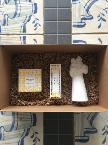 Gift Set - Benamor soap, Benamor hand lotion & St. Anthony figurine