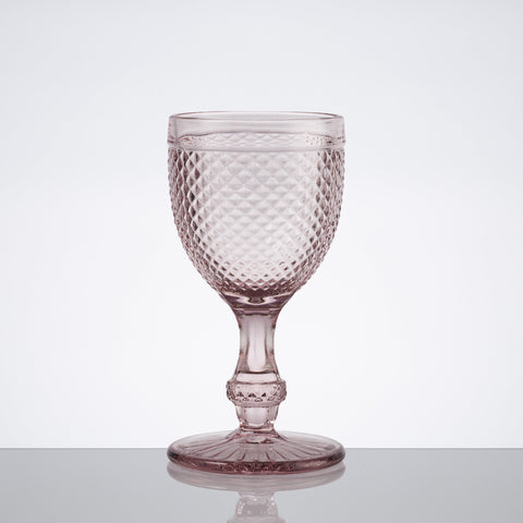 Red Wine Stem Glass - Pointed Set; Various Colours