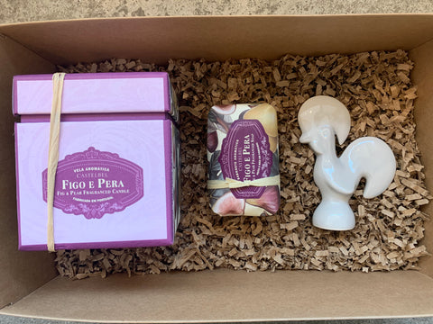 Gift Set - Castelbel Candle, Soap & Small Rooster