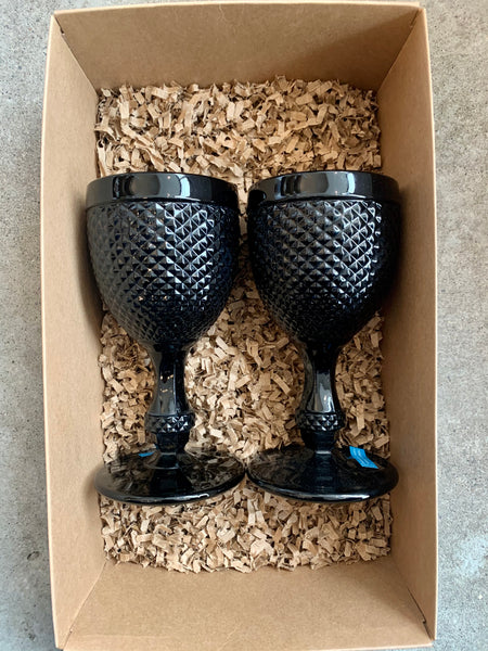 Gift Set - 2 Water Stem Glasses - 2 Colours Available