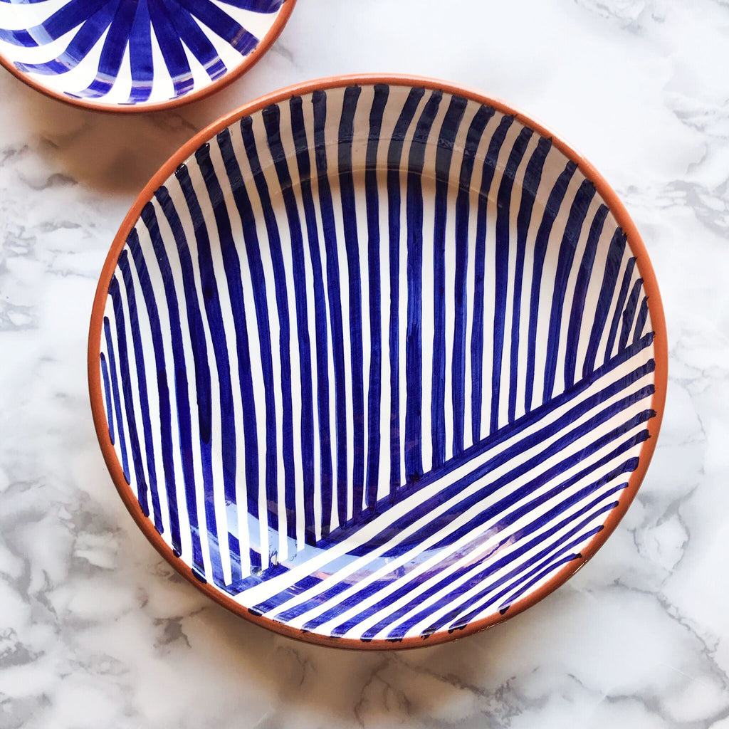 Casa Cubista - Blue Pasta Bowl - Various Patterns