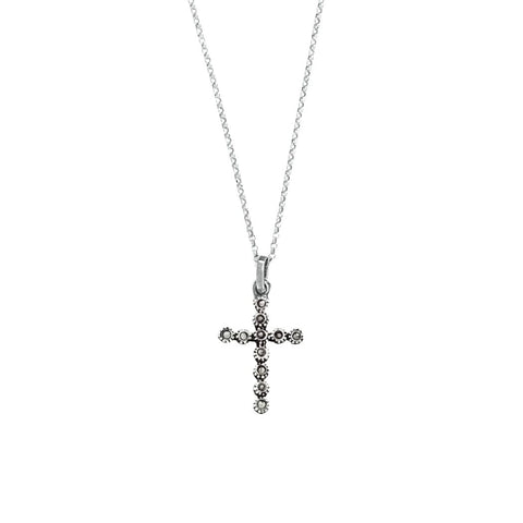 Portugal Jewels - Necklace Cross Marcasites in Silver