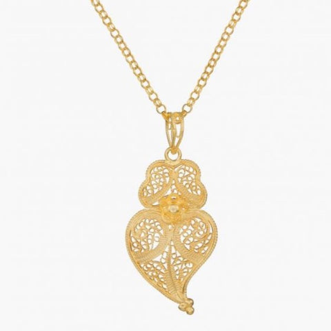 Portugal Jewels - Necklace Heart of Viana Filigree; Various sizes