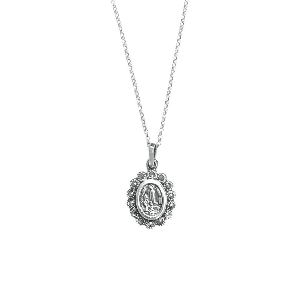 Portugal Jewels - Necklace Our Lady of Fátima Marcasites in Silver