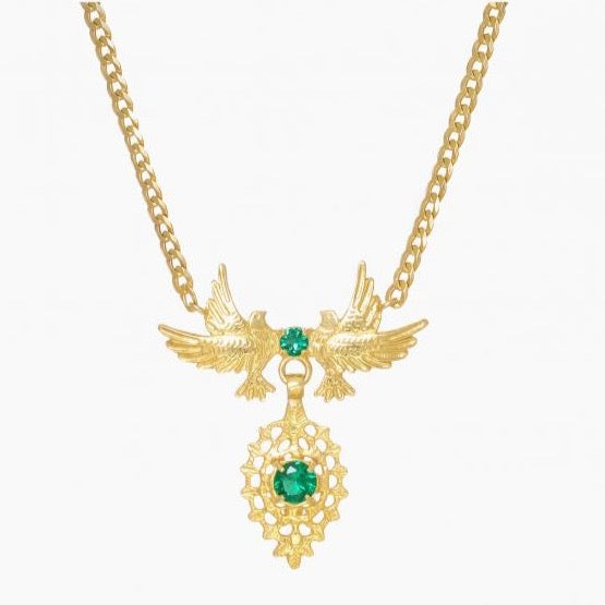 Necklace Queen Dove in Emerald Gemstone - Ana Moura Collection