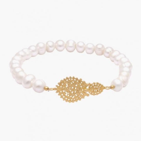 Portugal Jewels - Pearl Bracelet with charm; various styles