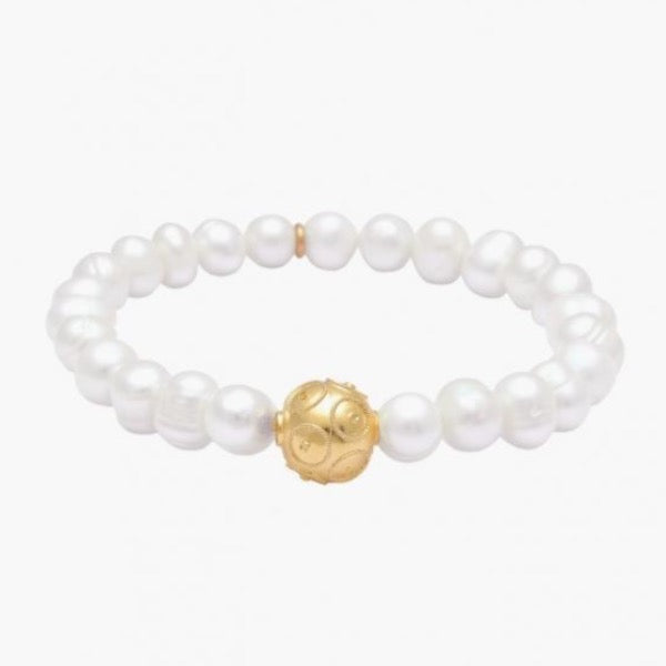 Pearl Bracelet with charm; various styles
