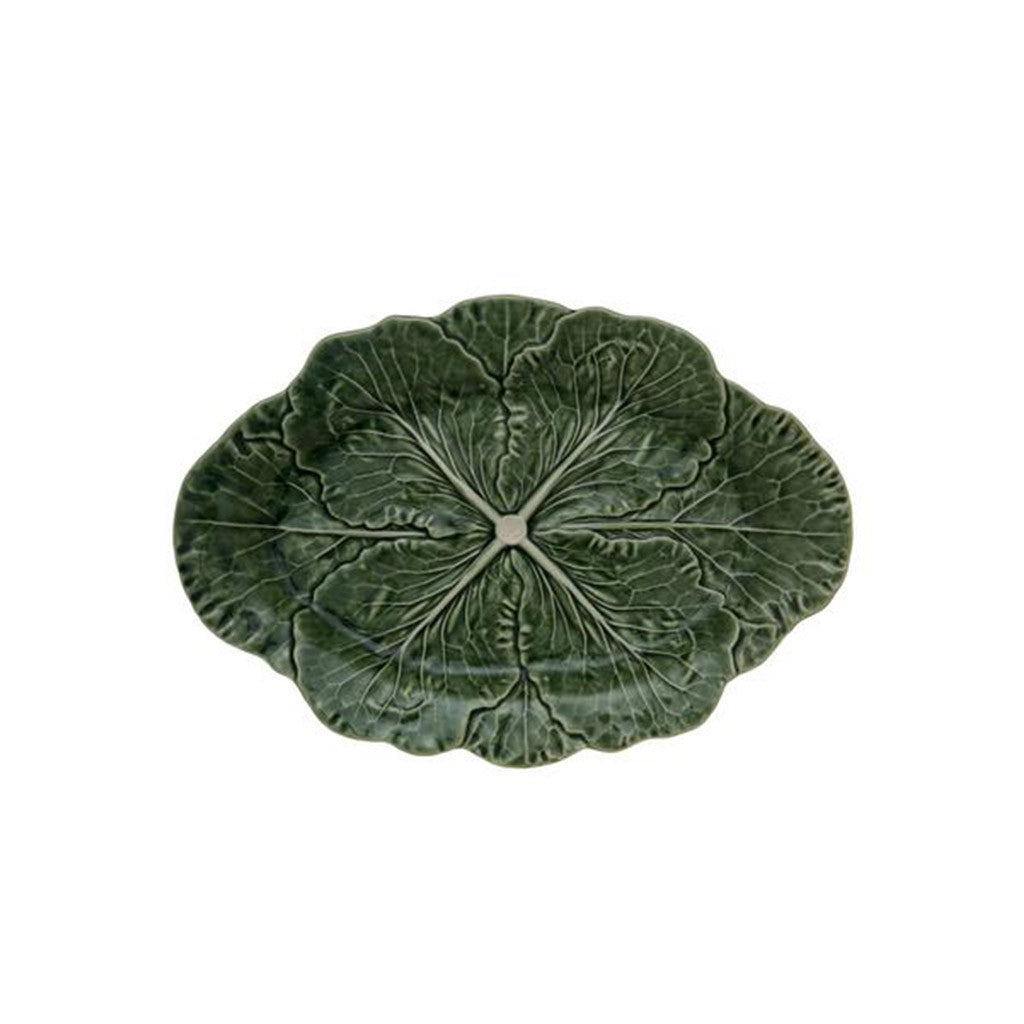 Green cabbage collection, oval tray