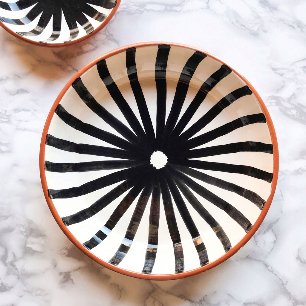 Casa Cubista - Black Pasta Bowl - Various Patterns
