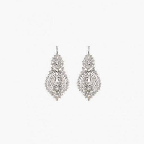 Queen Filigree Silver Earrings, various sizes