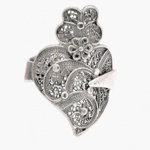Ring Heart of Viana in Silver