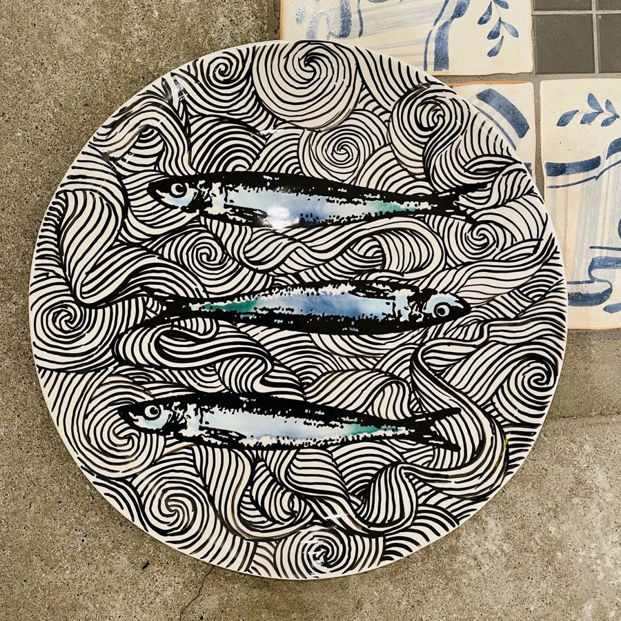 Portugal Gifts - Sardine - Wave Platter