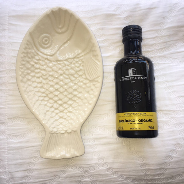 Gift Set - Small Fish Plate & Olive Oil