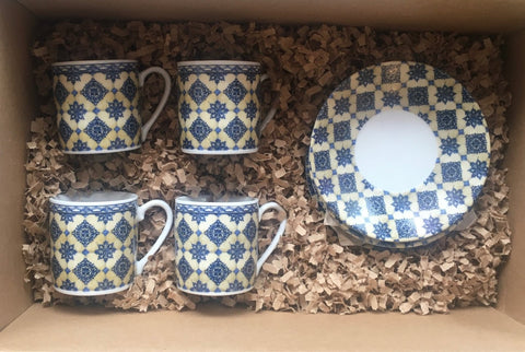 Tile Espresso cup Set of 4, Various patterns
