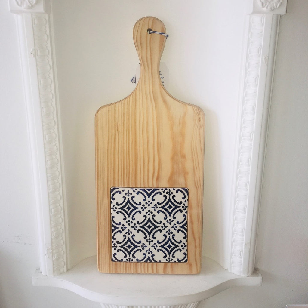 Rectangle Wood Serving Board with Tile insert; Various Styles
