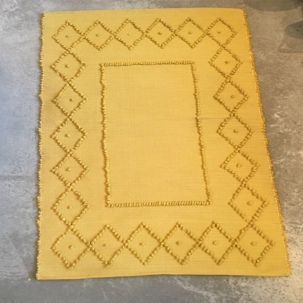 Traditional Pulled Cotton Rug 3' X 5', various colours