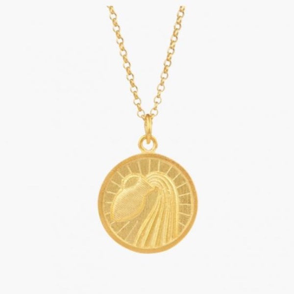 Portugal Jewels - Zodiac Necklace Gold Plated Silver
