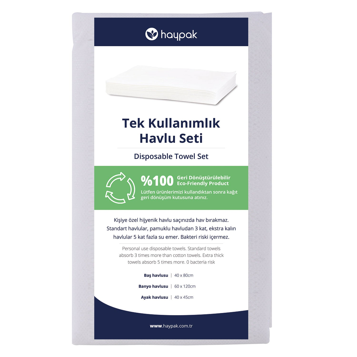 Small Towel Set Disposable