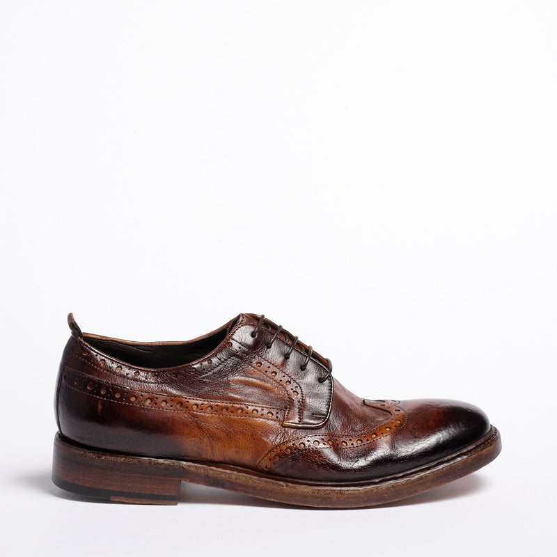Manson Laced Shoes Natural Buffalo leather Mustard