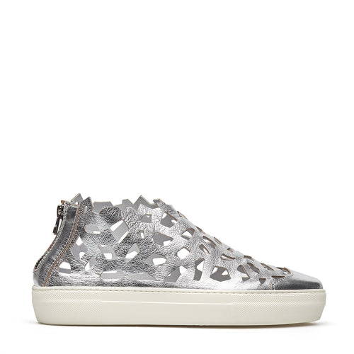 Round Metal Sneakers silver