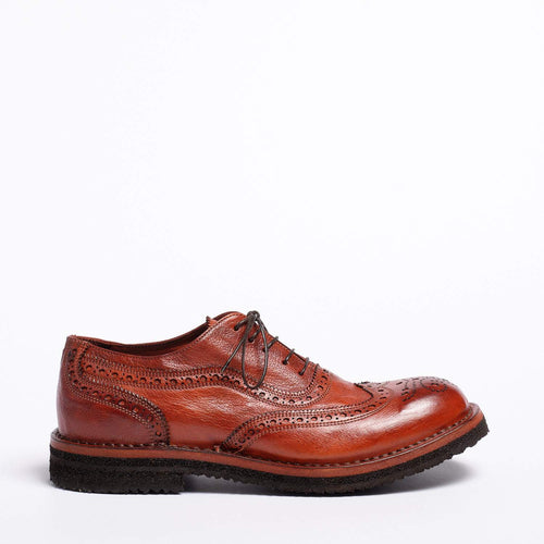 Paco Laced Shoes Natural Buffalo leather rust