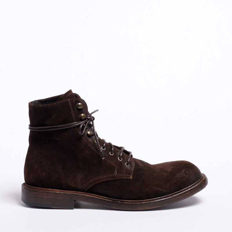 Dominique Laced Mid Boot Suede leather rust