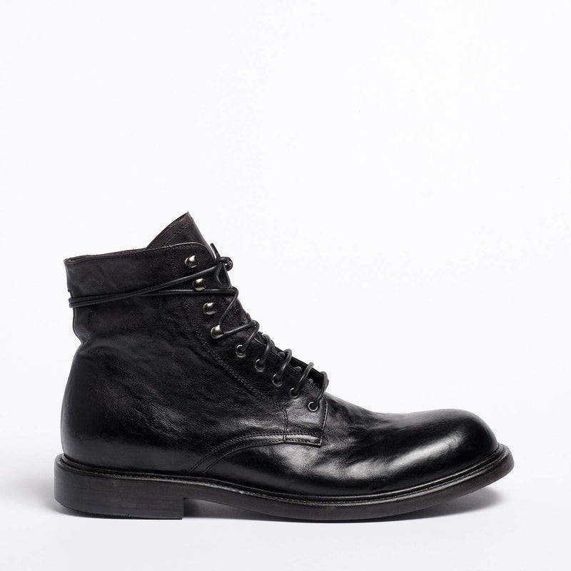 Vince Laced Mid Shoes Natural Horse leather black