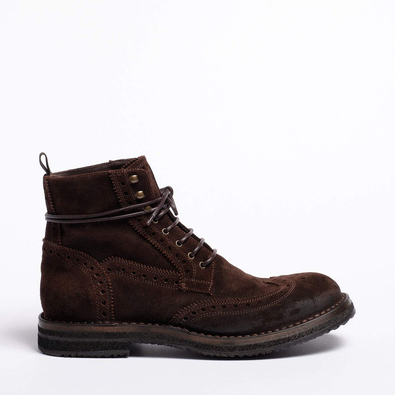 Matthew Laced Mid Shoes Oiled Suede dark brown