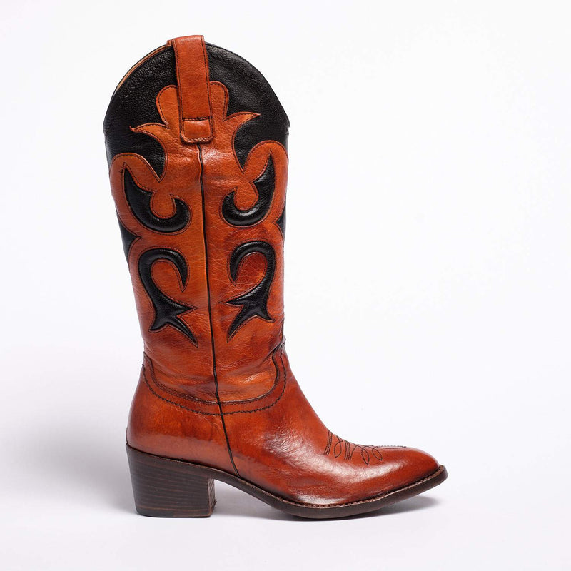 Meg Texan  boot Soft bufalo leather Rust-Tdm