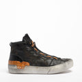 Virus_B Laced Mid Shoes soft natural leather black