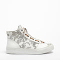 Virus Laced Mid Shoes soft natural leather white