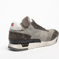Mundialito Laced Shoes suede and nylon with vacchetta leather insert grey