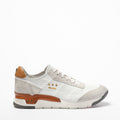 Mundialito Laced Shoes suede and soft leather with vacchetta leather insert white