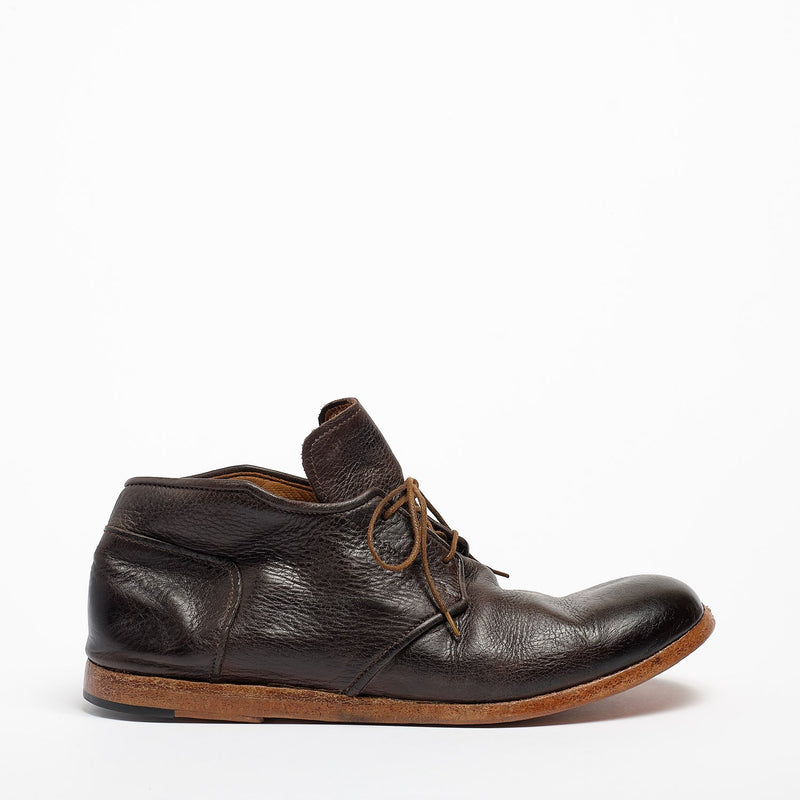 Haig Laced Mid Shoes natural soft leather dark_Brown