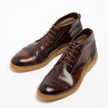 Darren Laced Mid Shoes natural vacchetta leather dark_brown
