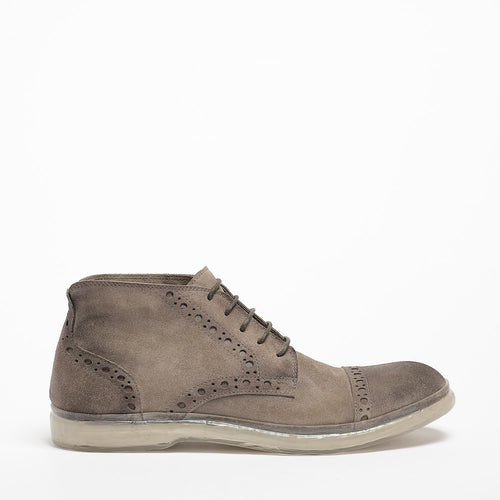 Owen Laced Mid Shoes suede leather pearl_grey