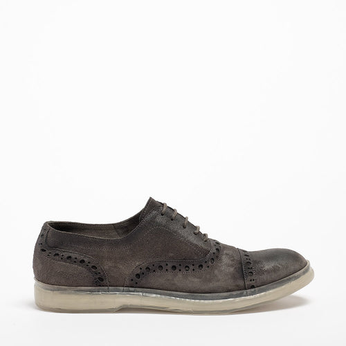 David Laced Shoes suede leather grey