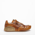 Mr.T Laced Shoes soft natural leather with suede insert cuoio