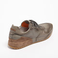Mr.T Laced Shoes soft natural leather with suede insert grey